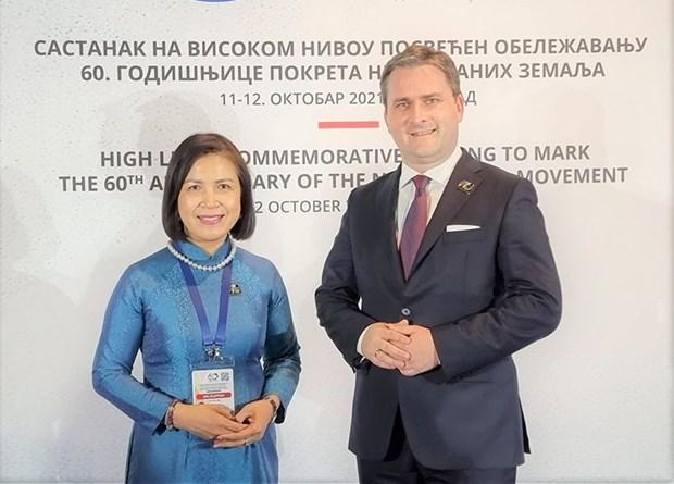 Việt Nam tham dự Cuộc họp cấp cao Phong trào Không liên kết tại Serbia