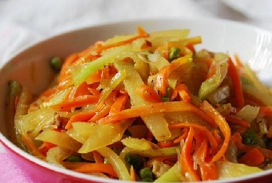Món su su cà rốt xào thịt cực hấp dẫn
