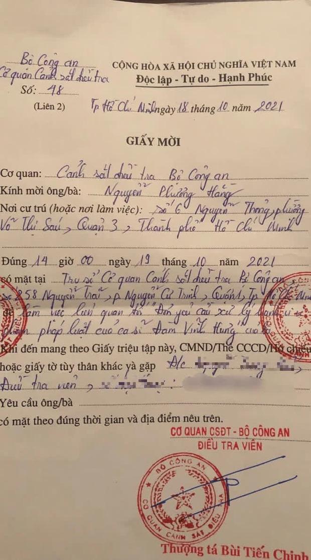 Lùi lịch hẹn làm việc với công an về vấn đề liên quan tới ca sĩ Đàm Vĩnh Hưng, bà Phương Hằng đưa ra lý do bất ngờ