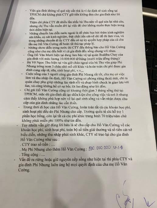Quản lý cố ca sĩ Phi Nhung công khai giấy tờ và quyết toán tiền cát-xê cho Hồ Văn Cường - ảnh 1