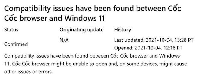Trình duyệt Cốc Cốc và Windows 11 có thể không tương thích: Do đâu? - ảnh 1