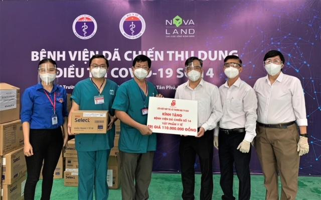 Saigon Co.op trao tặng vật phẩm y tế cho tuyến đầu chống dịch - ảnh 1