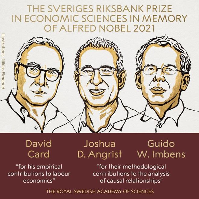 3 chuyên gia Mỹ thắng giải Nobel Kinh tế năm 2021 - ảnh 1