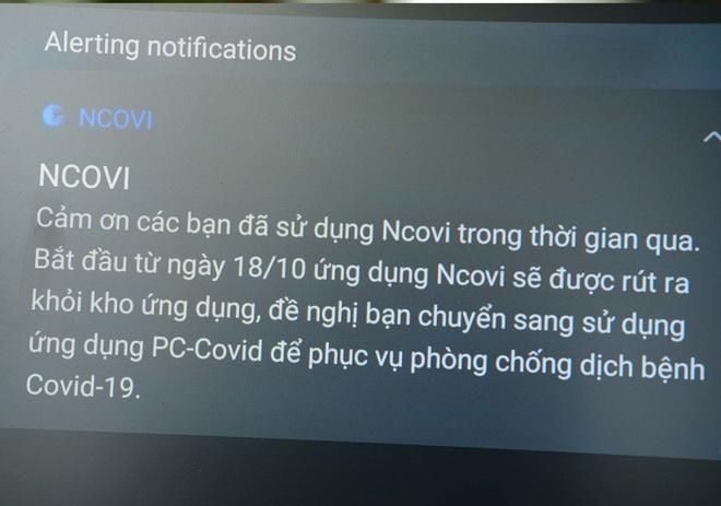 Ứng dụng NCOVI sắp bị gỡ