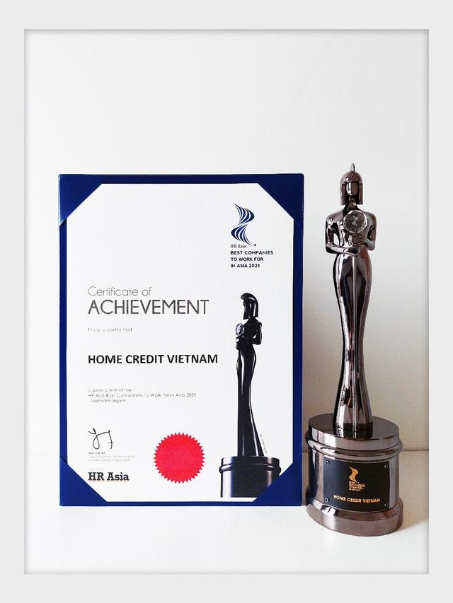 """Home Credit Việt Nam được HR Asia vinh danh """"Nơi làm việc tốt nhất châu Á năm 2021"""""""