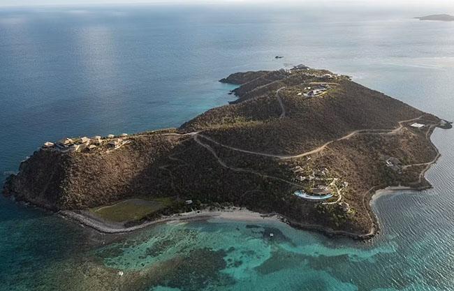 Choáng với hòn đảo thiên đường được tỷ phú Richard Branson chọn làm nơi nghỉ dưỡng yêu thích