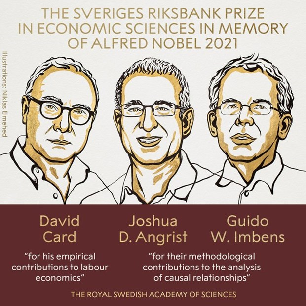 Giải Nobel Kinh tế năm 2021 thuộc về ba nhà kinh tế học người Mỹ - ảnh 1