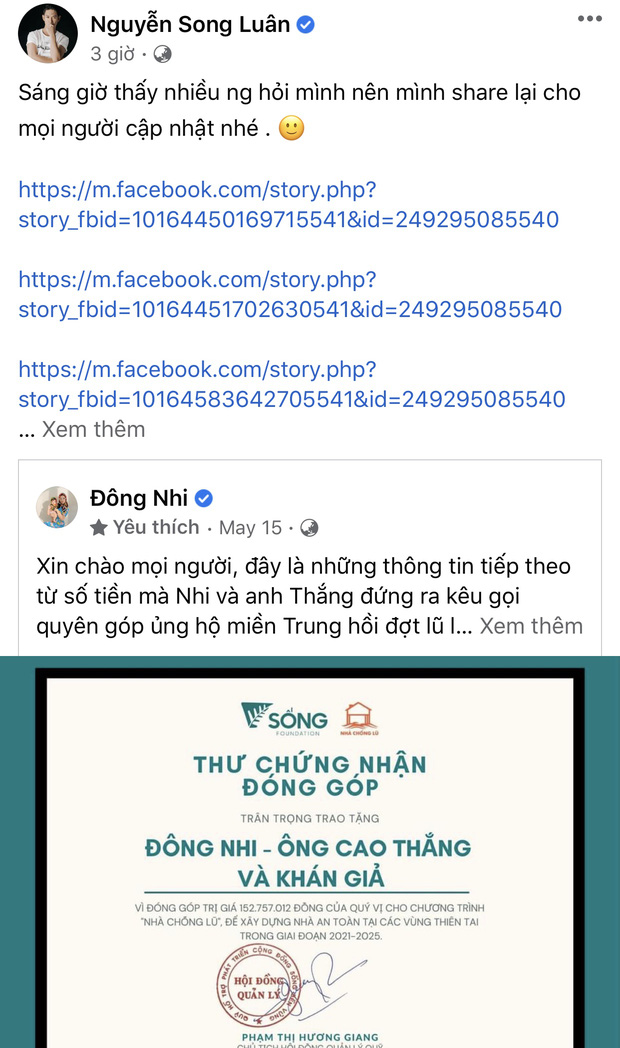 Một sao nam có động thái ngầm bênh vực Đông Nhi khi nữ ca sĩ bị gọi tên nghi ngờ tiền từ thiện miền Trung