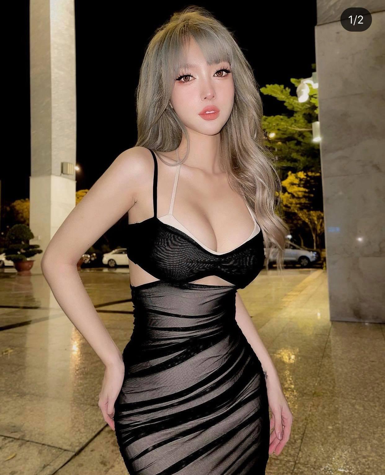 Thí sinh Hoa hậu Hoàn Vũ Việt Nam đang gây sốt, diện váy lưới mỏng dính ra phố