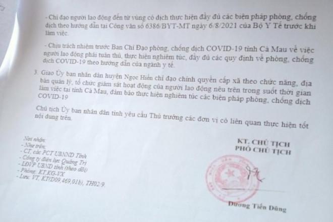 """""""Thông chốt"""" bằng văn bản giả lãnh đạo tỉnh Cà Mau đã nghỉ hưu 6 năm"""